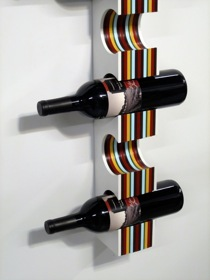 Wide Wine Rack, Wall Mounted for a chic, captivating display.
