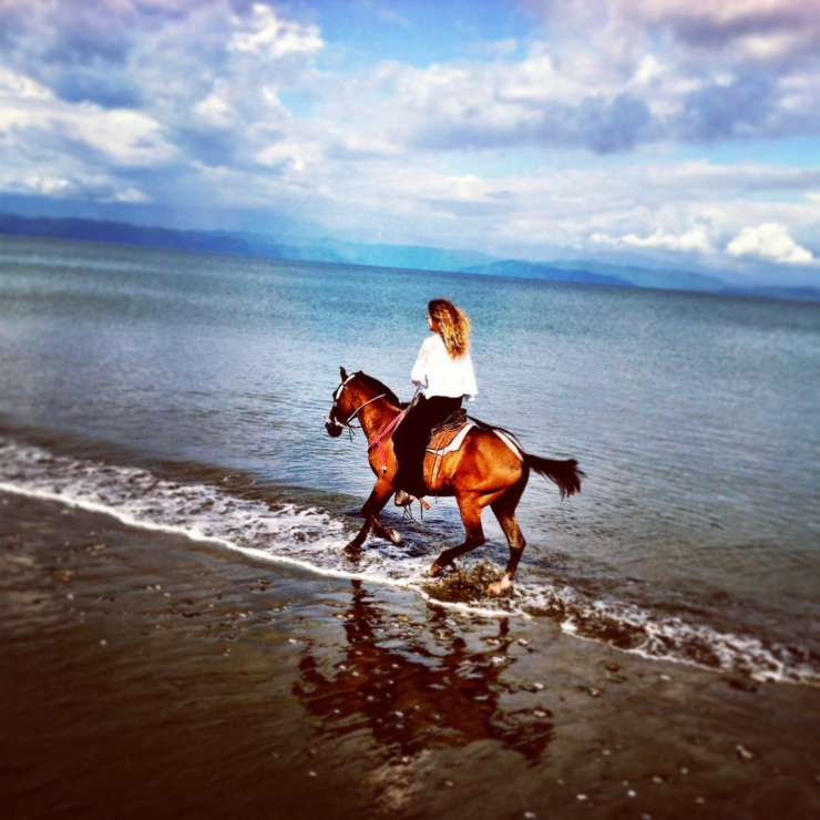 Freedom to love and be myself, run through the ocean on horse back cherishing my dreams!