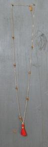 Red Prayer Tassel Jasper Mala Bead Necklace for the Boho Spiritual Goddess