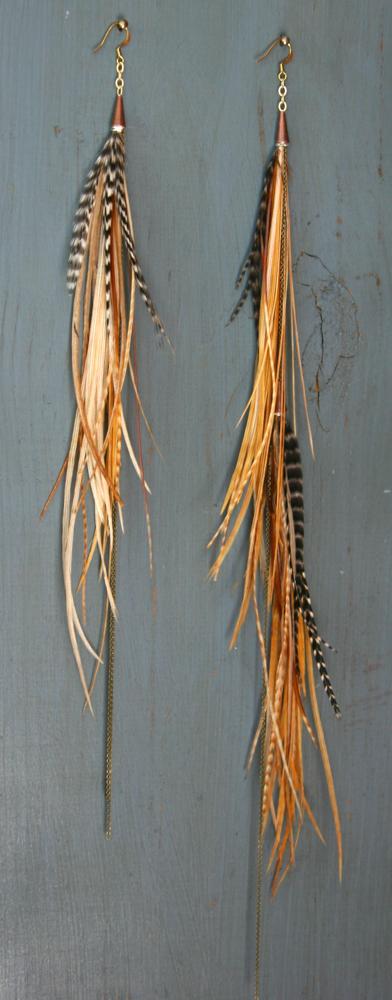 Custom Burners, Feather Earrings For Burning Man