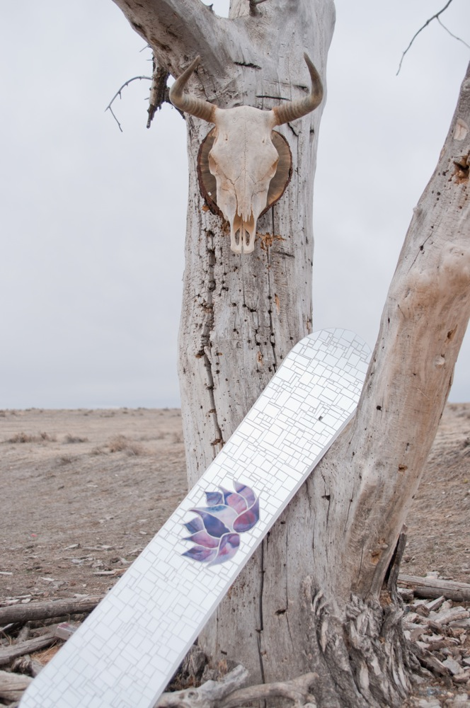Lotus Mosaic Snowboard by the Mountain Mermaid